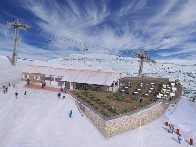 Nueva terraza cota 1900 en la Estación de esquí de Valdelinares (ARAMON)