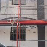 Instalación de SATE en fachada