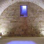 Torre norte sótano segundo: conservación de trazas de torre circular de un castillo anterior