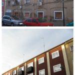 Comparativa estados original y reformado de fachada  principal c/Anzánigo nº 4