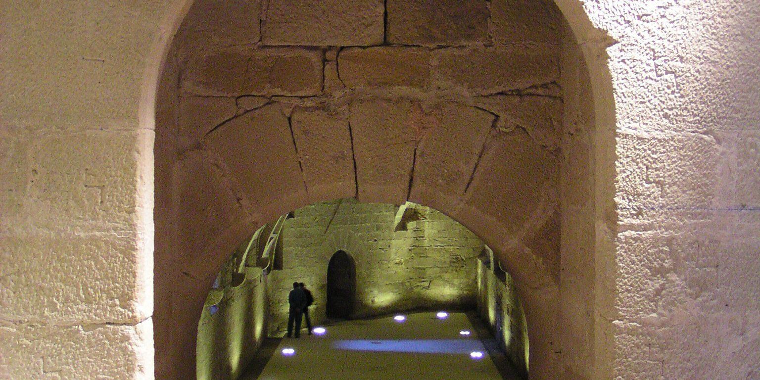 Rehabilitación sótanos del castillo de Mora de Rubielos